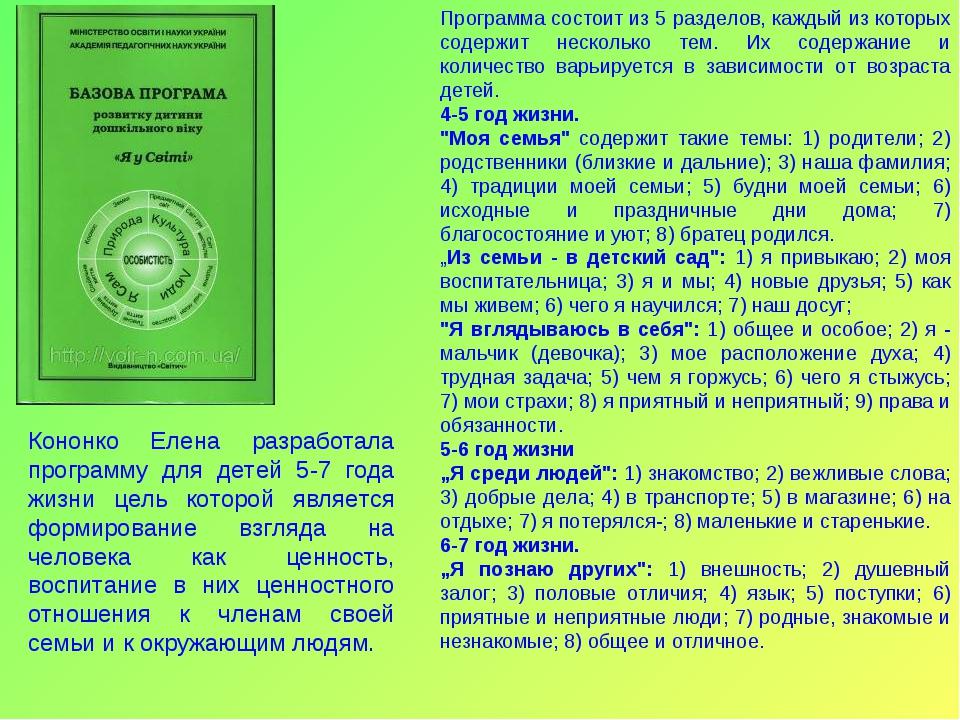 Программа состоит из 5 разделов, каждый из которых содержит несколько тем. Их...