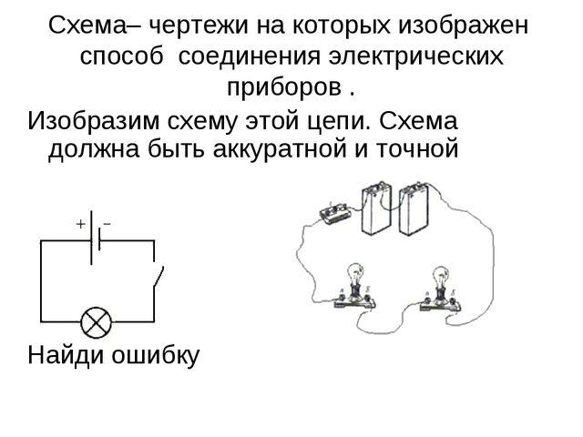 Схема– чертежи на которых изображен способ соединения электрических приборов...