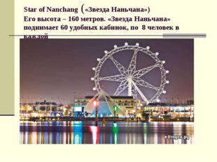 Star of Nanchang («Звезда Наньчана») Его высота – 160 метров. «Звезда Наньчан