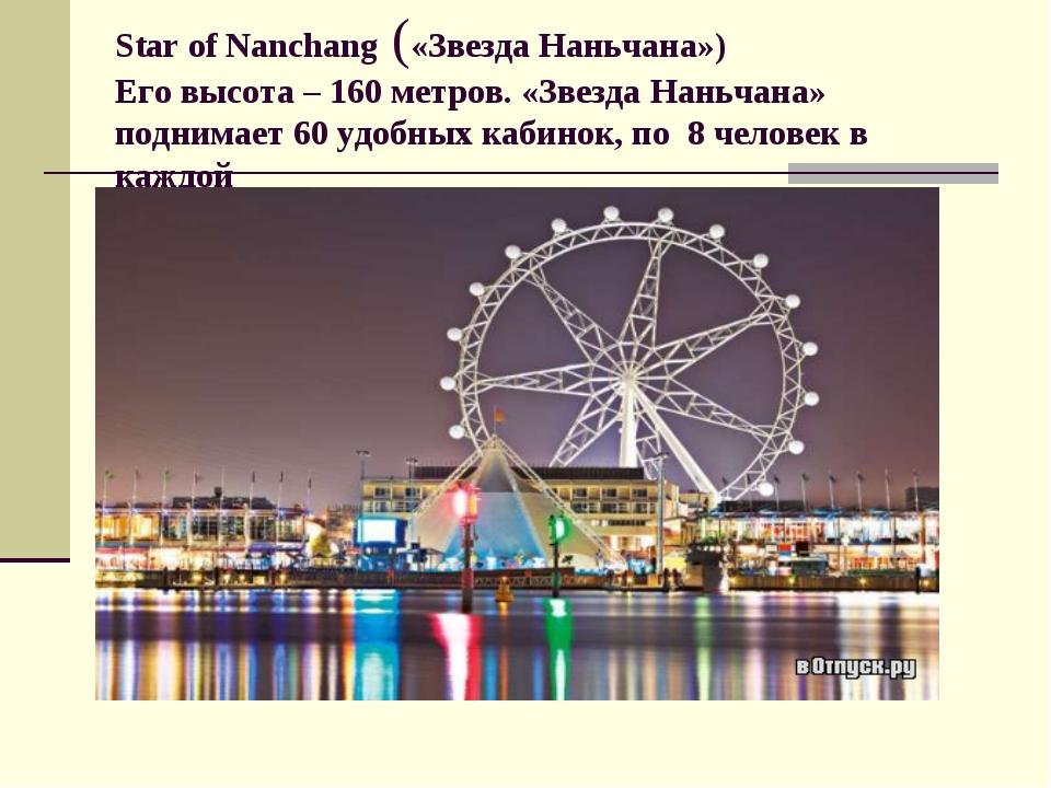Star of Nanchang («Звезда Наньчана») Его высота – 160 метров. «Звезда Наньчан...