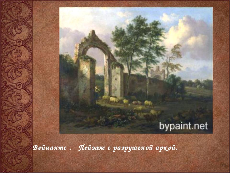 Вейнантс . Пейзаж с разрушеной аркой.