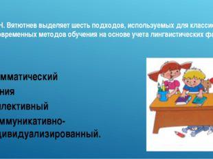 М.Н. Вятютнев выделяет шесть подходов, используемых для классификации совреме
