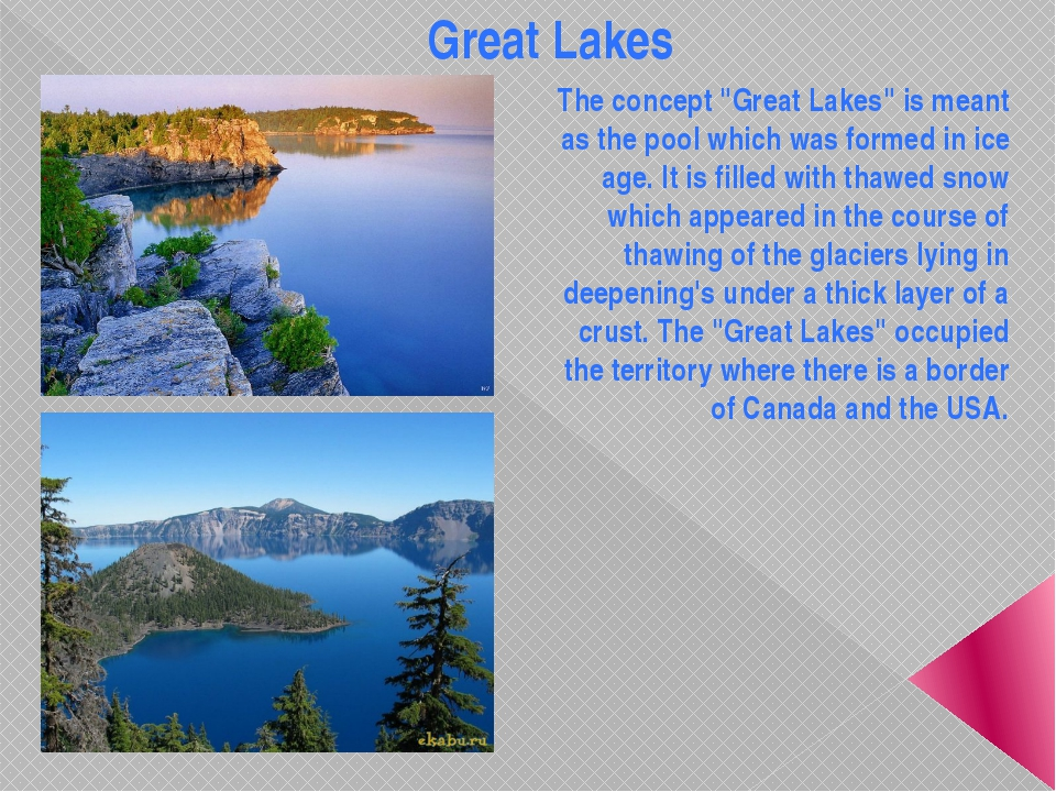 "Great Lakes The concept ""Great Lakes"" is meant as the pool which was formed i..."