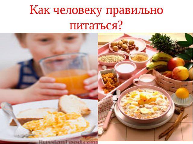 Как человеку правильно питаться?