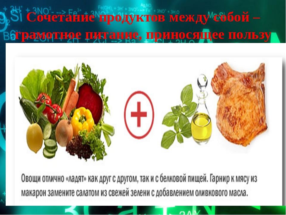 Сочетание продуктов между собой – грамотное питание, приносящее пользу