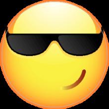 Наклейка Смайлик в очках