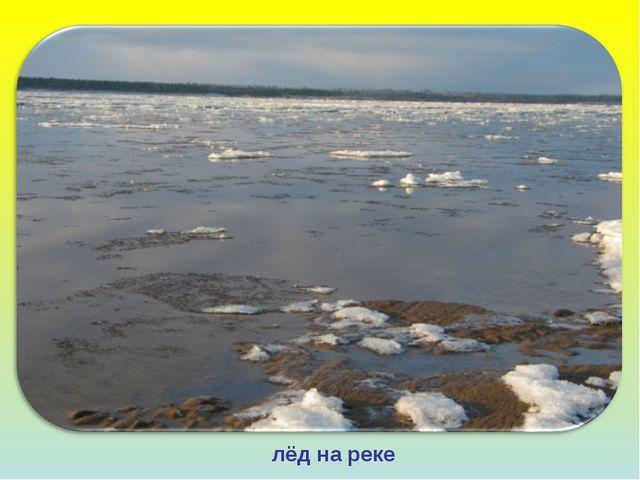 лёд на реке