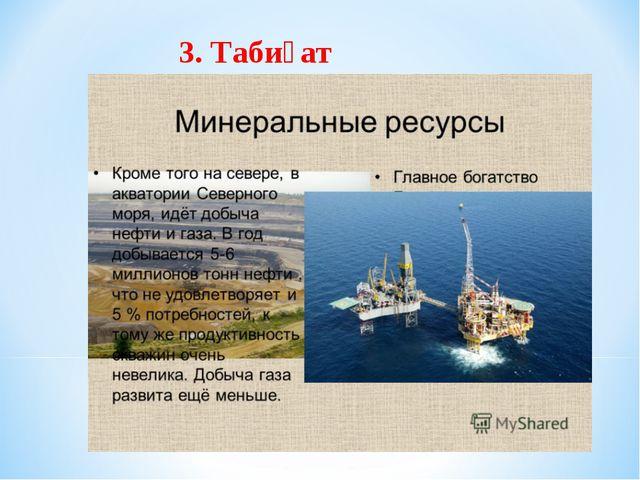 3. Табиғат ресурстары.