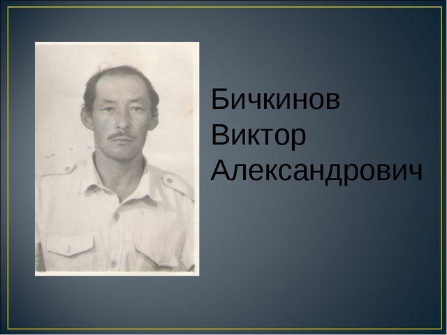 Бичкинов Виктор Александрович