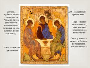 Посох у ангела – символ небесного вестничества, посланничества Дуб Мамрийский
