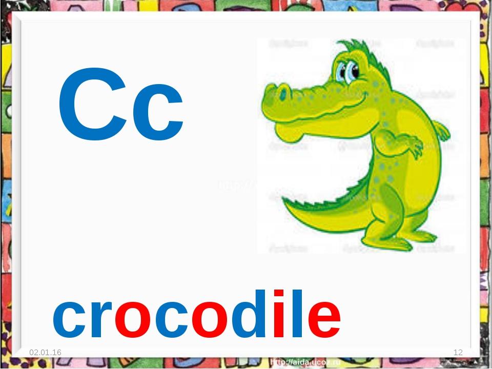 * * Cc crocodile