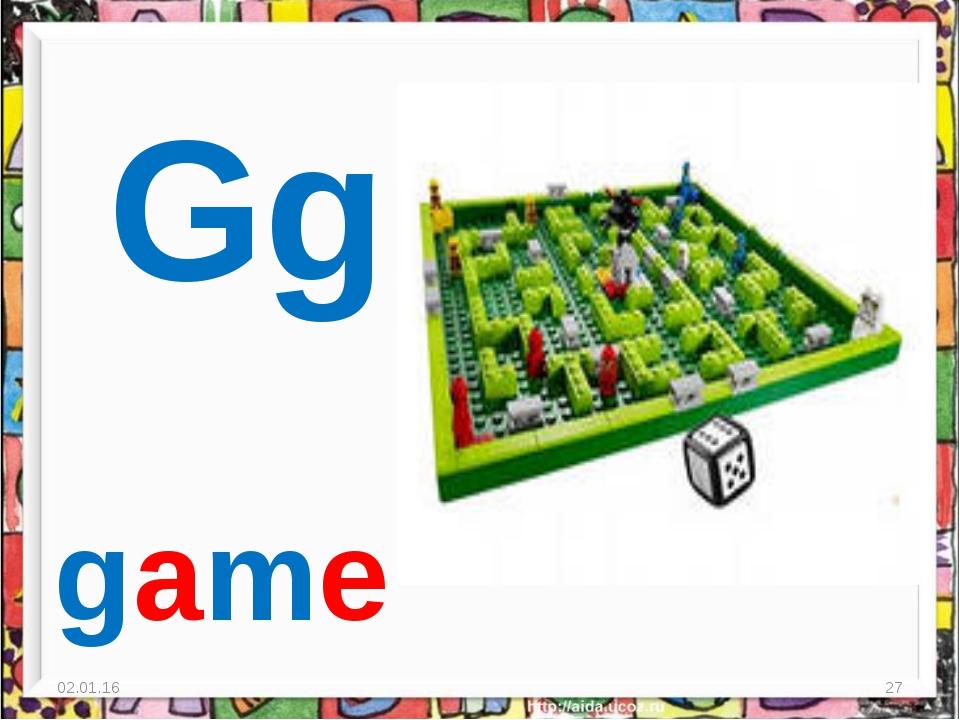 * * Gg game