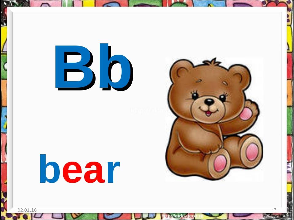 * * Bb bear