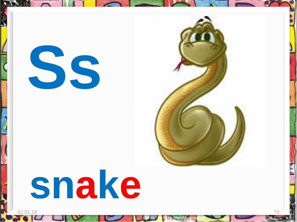 * * Ss snake