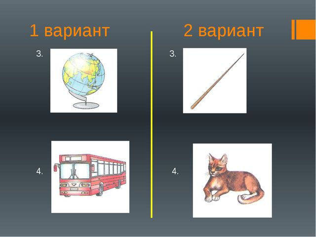 1 вариант 2 вариант 3. 3. 4. 4.