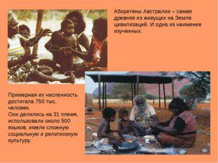 Примерная их численность достигала 750 тыс. человек. Они делились на 31 племя