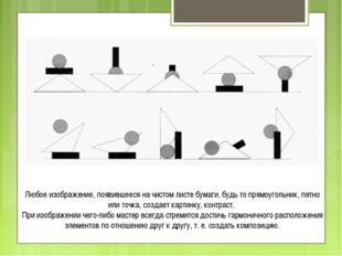 Любое изображение, появившееся на чистом листе бумаги, будь то прямоугольник,