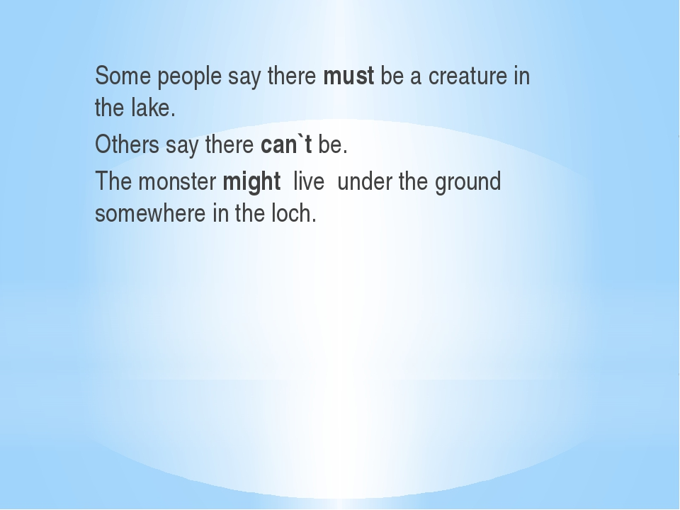 Some people say there must be a creature in the lake. Others say there can`t...