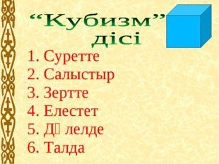1. Суретте 2. Салыстыр 3. Зертте 4. Елестет 5. Дәлелде 6. Талда
