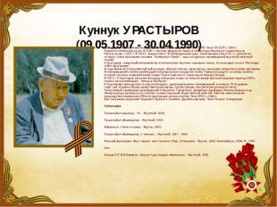 Куннук УРАСТЫРОВ (09.05.1907 - 30.04.1990) Куннук Урастыров - Новиков Владими