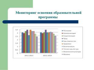 Мониторинг освоения образовательной программы