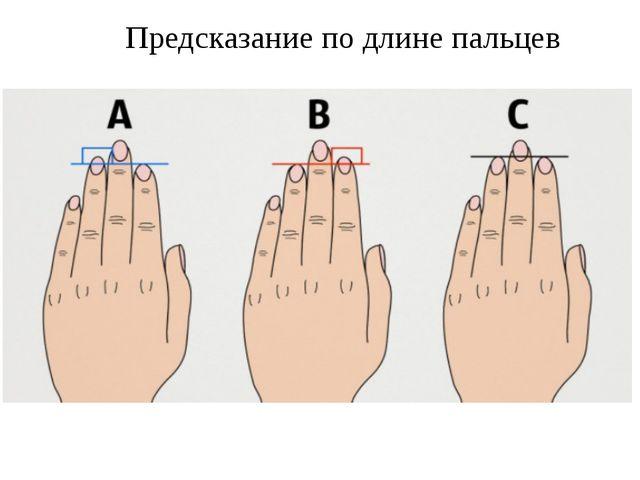 Предсказание по длине пальцев