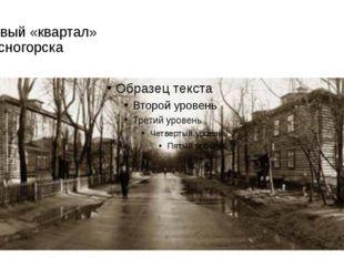 Первый «квартал» Красногорска Это они выбрали в ближайшем лесу место для перв