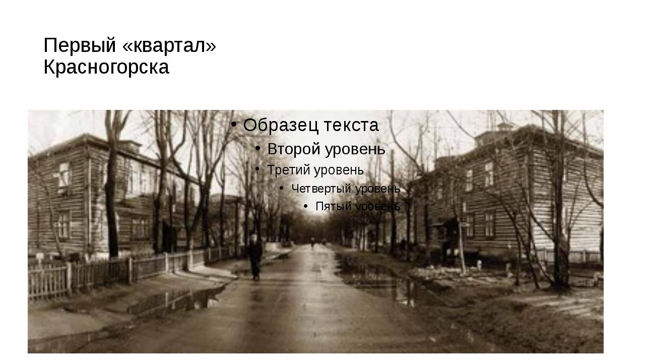 Первый «квартал» Красногорска Это они выбрали в ближайшем лесу место для перв...