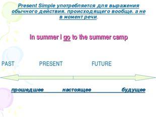 Present Simple употребляется для выражения обычного действия. происходящего в