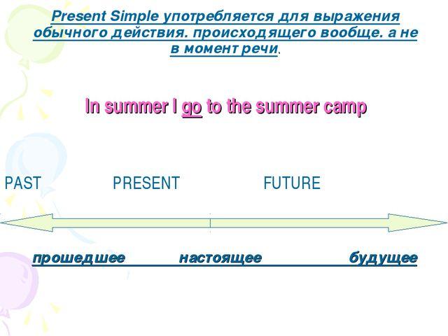 Present Simple употребляется для выражения обычного действия. происходящего в...