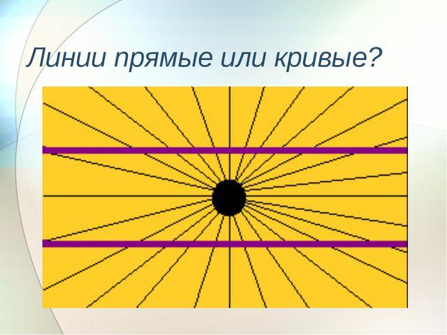Линии прямые или кривые?