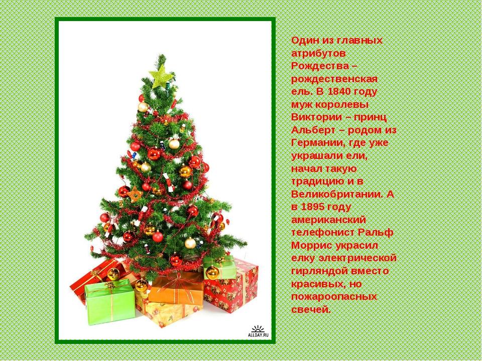 Один из главных атрибутов Рождества – рождественская ель. В 1840 году муж кор...
