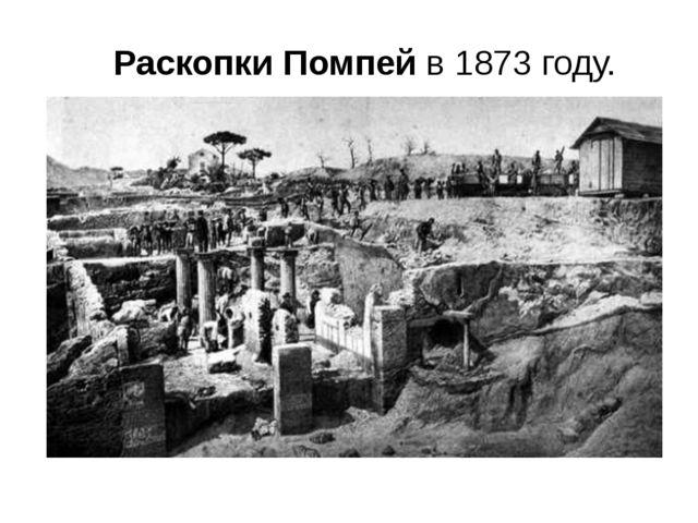 РаскопкиПомпейв 1873 году.