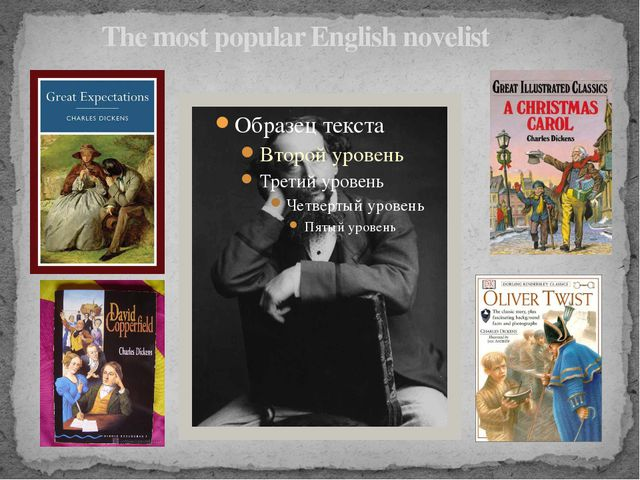 The most popular English novelist