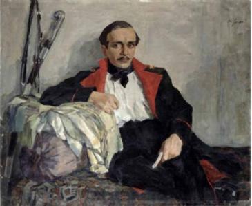Ульянов Николай Павлович. Портрет Михаила Лермонтова