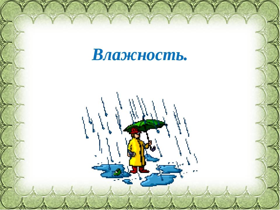 Влажность. Фокина Лидия Петровна