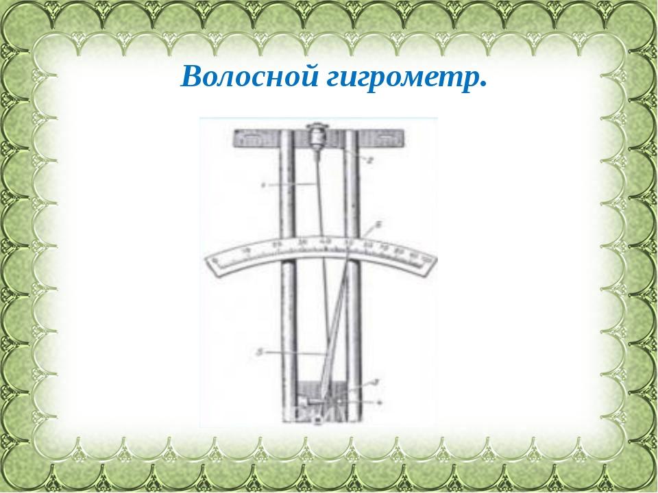 Волосной гигрометр. Фокина Лидия Петровна