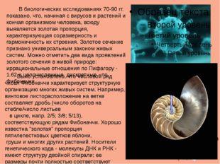 В биологических исследованиях 70-90 гг. показано, что, начиная с вирусов и р