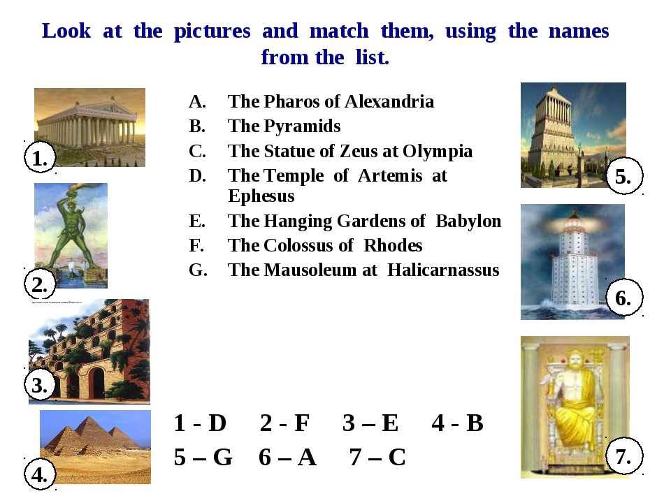 Look at the pictures and match them, using the names from the list. The Pharo...