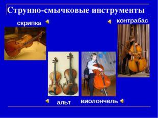 Струнно-смычковые инструменты контрабас альт виолончель скрипка