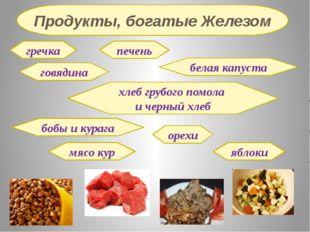 гречка говядина печень белая капуста хлеб грубого помола и черный хлеб бобы и