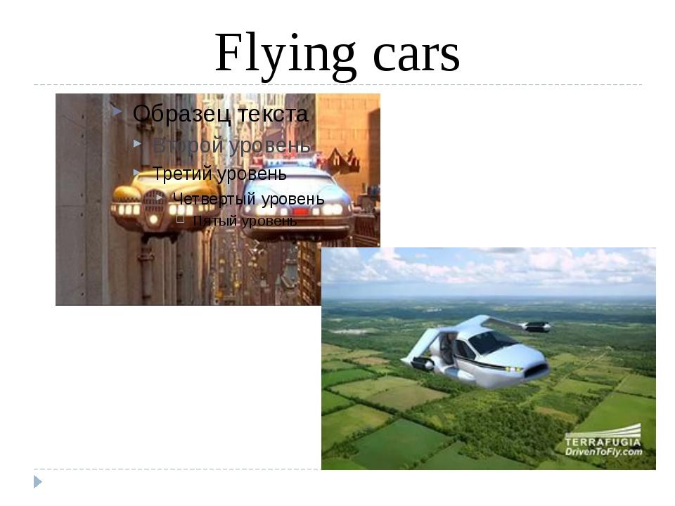 Flying cars