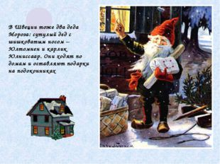 В Швеции тоже два деда Мороза: сутулый дед с шишковатым носом – Юлтомнен и ка