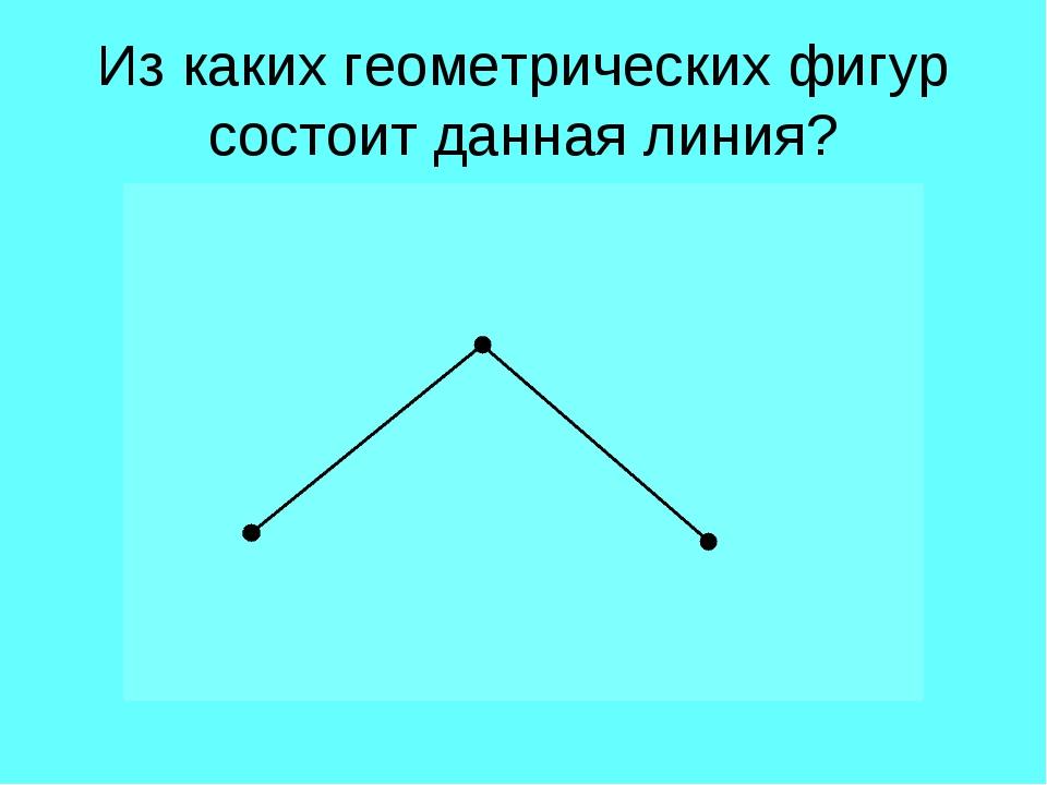 Из каких геометрических фигур состоит данная линия?