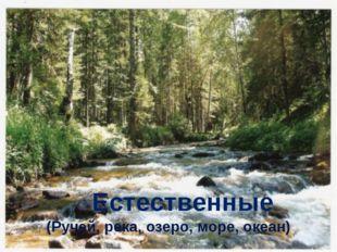 Естественные (Ручей, река, озеро, море, океан)