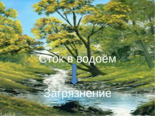Сток в водоём Загрязнение