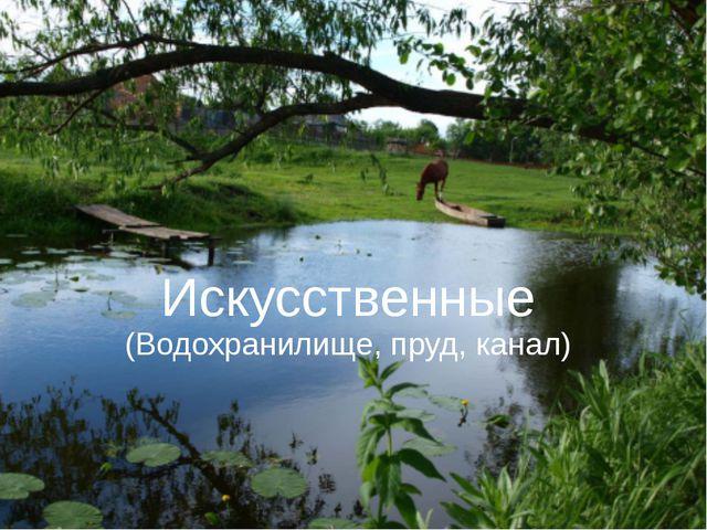 Искусственные (Водохранилище, пруд, канал)