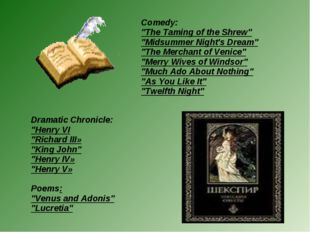 "Dramatic Chronicle: ""Henry VI ""Richard III» ""King John"" ""Henry IV» ""Henry V»"