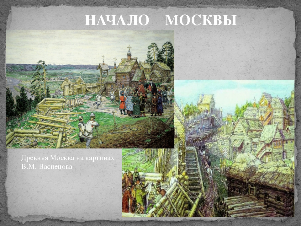 НАЧАЛО МОСКВЫ Древняя Москва на картинах В.М. Васнецова
