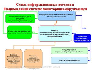 Схема информационных потоков в Национальной системе мониторинга окружающей ср